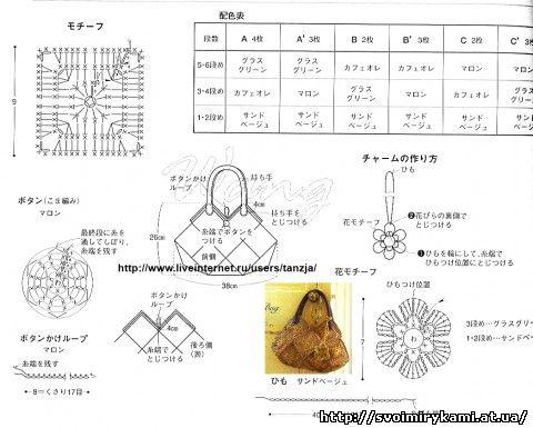 схема плетения ромба из